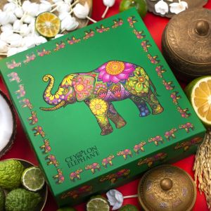 DIWALI GIFT BOX - CEYLON ELEPHANT - HAIR TREATS