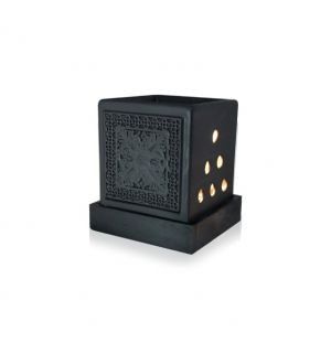 KANDYAN BLACK STONEWARE - Oil Burners (Electric)