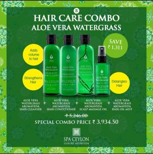 ALOE VERA WATER GRASS - Scalp & Hair Care Combo Set